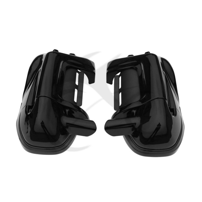 Lower Vented Leg Fairing 6.5 Speakers w/ Grills For Harley Touring Electra Street Glide 83-13 Black