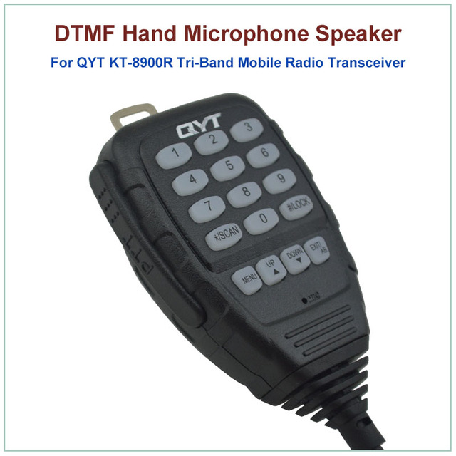 US $20 0 |Aliexpress com : Buy Hot Sale Original QYT 8 Pin DTMF Hand  Speaker Microphone for QYT KT 8900R KT8900R Tri band Mini Mobile Radio