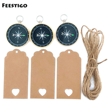 FEESTIGO 12set Wedding Gifts for Guests Souvenirs Decoration Compass+Tags Party Favors Event Supplies