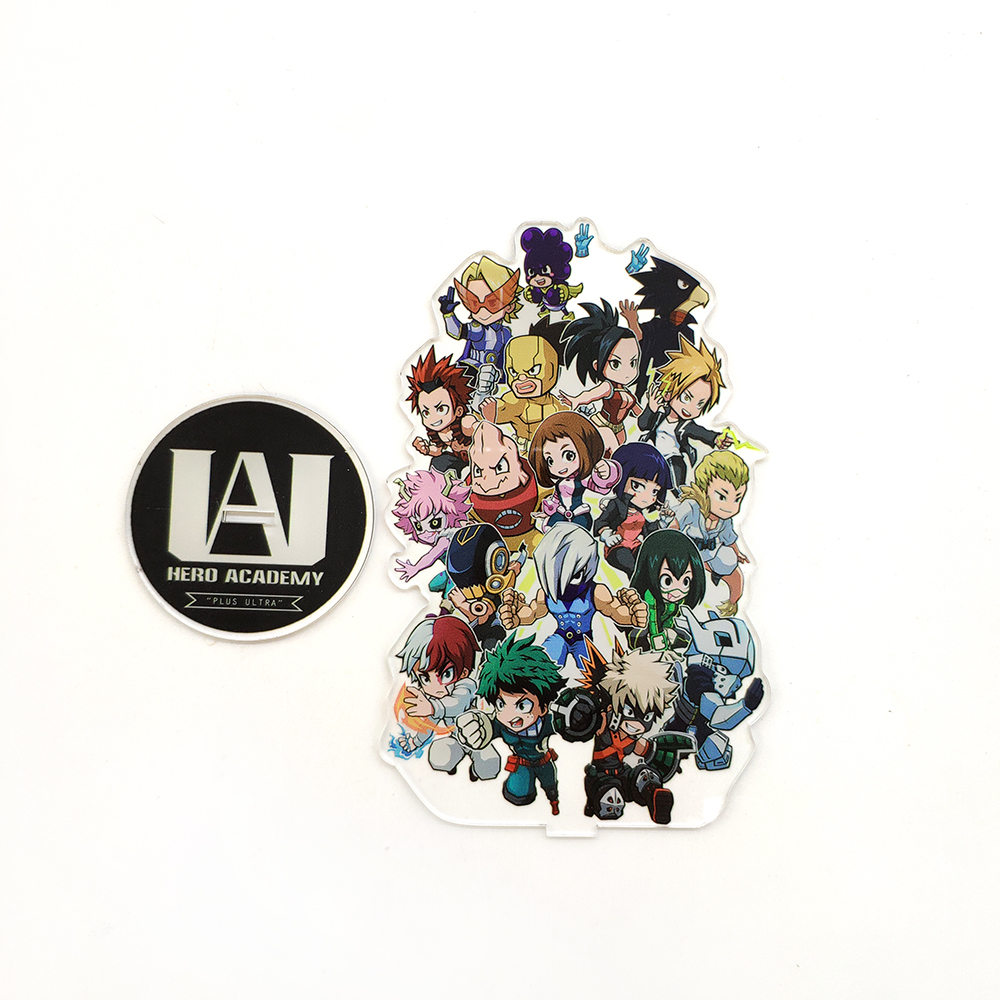Love Thank You boku no My Hero Academia Class A cute acrylic stand figure model double-side plate holder topper anime japanese