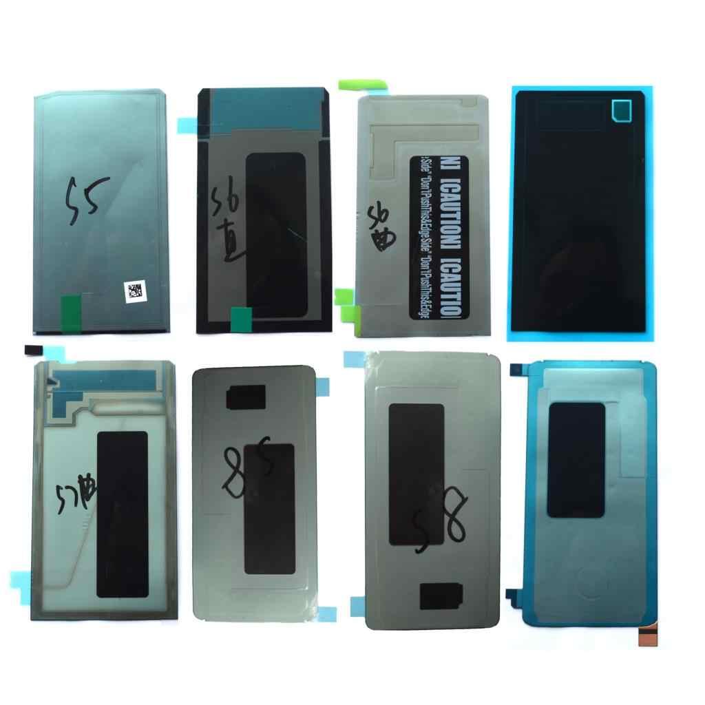 2 قطع عودة LCD شاشة لاصق ملصق لسامسونج غالاكسي S3 S4 S5 S6 S7 S8 S9 + حافة زائد LCD ظهر ضوء ملصقا