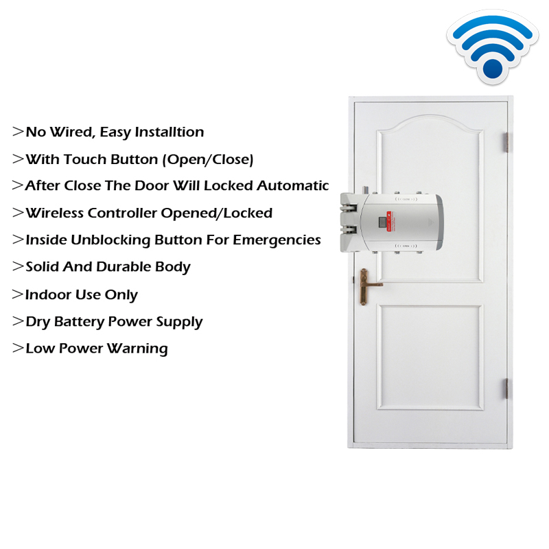 Image 5 - RAYKUBE Electric Door Lock Wireless Control With Remote Control Open & Close Smart Lock Security Door Easy Installing R W03-in Electric Lock from Security & Protection