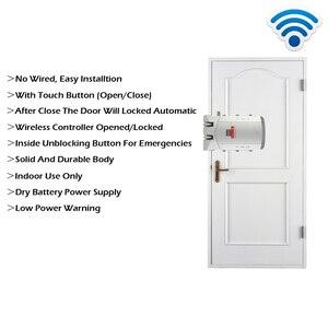Image 5 - RAYKUBE Electric Door Lock Wireless Control With Remote Control Open & Close Smart Lock Security Door Easy Installing R W03
