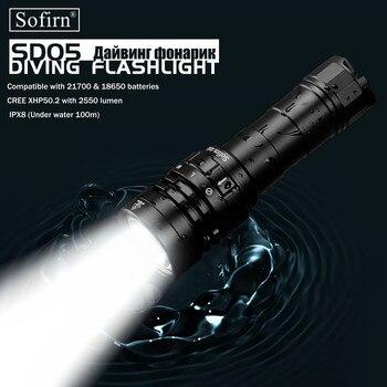 Sofirn Neue SD05 Scuba Dive LED Taschenlampe Tauchen Licht Cree XHP 50,2 Super Helle 2550lm 21700 Lampe mit Magnetische Schalter 3 modi