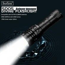 Sofirnใหม่SD05 Scuba DiveไฟฉายLED Light Cree XHP50.2 Super Bright 3000lm 21700 พร้อมสวิทช์แม่เหล็ก 3 โหมด
