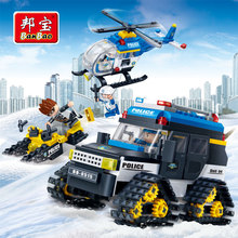 [small particles] buoubuou creative educational toys toy bricks new police series polar mission 7013