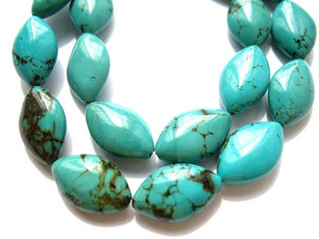 bulk turquoise beads horese eye marquoise green blue jewelry beads 12x20mm --5strands 16inch