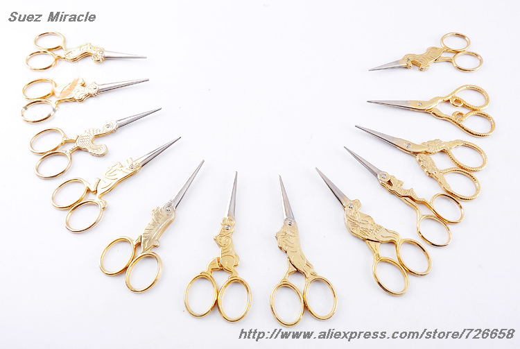 Dvanaest kineskih zodijaka zlatne boje Vintage škare Čelik za - Umjetnost, obrt i šivanje - Foto 4
