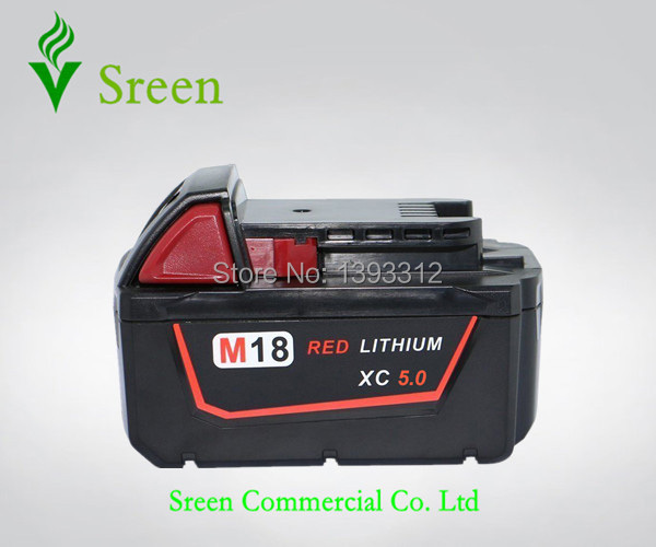 New 5000mAh 18V Rechargable Lithium Ion Replacement Power Tool Battery for Milwaukee M18 XC 48-11-1815 M18B Cordless Drill replacement power tooll battery for milwaukee 18 volt 4 0ah 48 11 1828 m18 xc red lithium high capacity battery