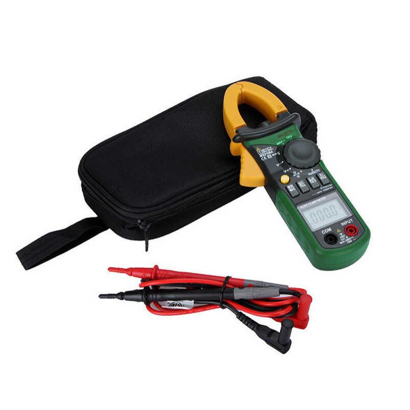Multímetro Digital MASTECH, amperímetro con pinza MS2108A, pinza de corriente AC/DC, comprobador de resistencia del condensador de corriente