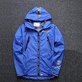 Mens Jacket 2016 Spring New Arrival Mens Hooded Windbreaker Jacket Korean Bomber Jackets Men Fashion Camo Jacket Black / Blue