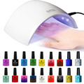 Upgraded SUN9C Plus Gel Manicure Light Kit, Professional Gel Nail Kits with LED Lamp for Nail Salon Home Use