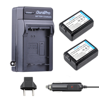 2pc NP FW50 NP FW50 FW50 Li Ion Battery Car Charger EU AC For Sony A6000