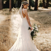 LORIE Mermaid Lace Wedding Dress Sweetheart Spaghetti Strap Open Back Bride Dress Princess Wedding Gown Free Shipping vestido de