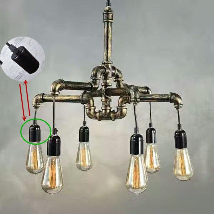 Лофт Винтаж ручной работы американский кантри железа античная латунь водопровод подвесной светильник из латуни готовой Утюг крышка с плас