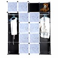 Fashion DIY 20 Cube Cupboard Cabinet Armoires Wardrobe Organizer Storage Bedroom Furniture