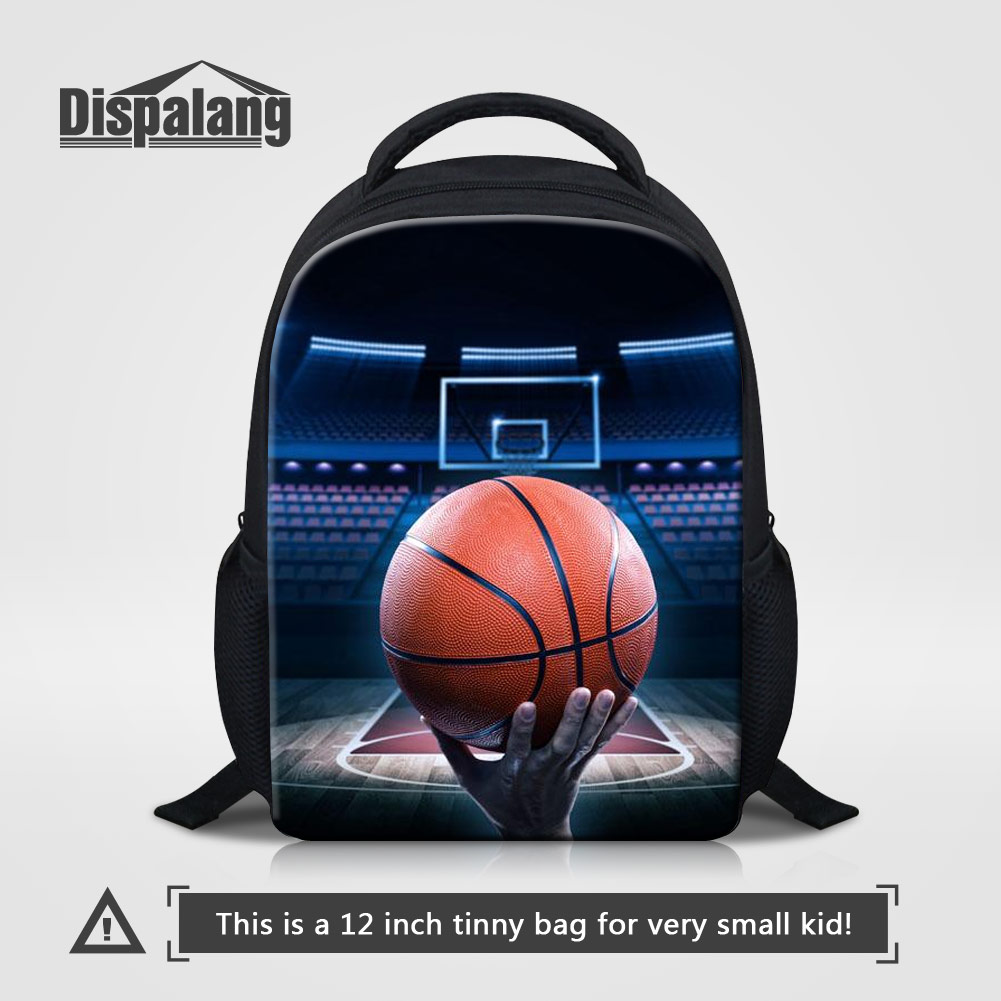 Dispalang Personalized Basketballs Printed School Backpack For Boys Soccers Bookbag For Children Toddler Kids Mini Mochila Bolsa