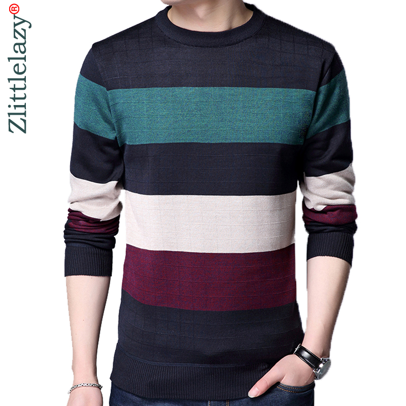 online retailer 75558 71ece 2018 designer pullover striped men sweater dress thin jersey knitted  sweaters mens wear slim fit knitwear fashion clothing 10030