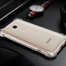 Купить с кэшбэком Four-corner Anti-Knock Transparent Silicone Case For huawei Play 6X 7X 5 5A 7A enjoy 8E 5S 6 6s 7 7C 8 7S 9 plus Maimang 5 6 7