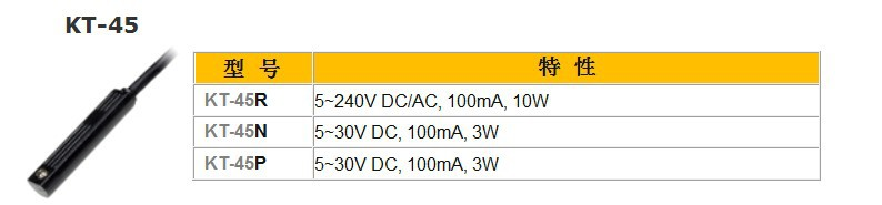KT-45R capteur REED commutateur (LONG fil) AC DC 5-240 V