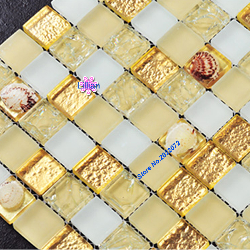 Pearl Glass Mosaic Wall Tile For Bathrooms Discount Backsplash Tiles