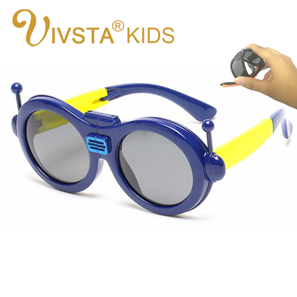 IVSTA 881 Aviator sunglasses robot foldable children Fashion sun glasses boys KIDS sunglasses Pilot Deisgn Polaroid Summer
