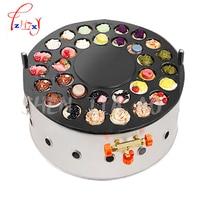 Non stick gas type red bean cake machine 32 holes commercial round gas wheel bread machine pancake machine WZ HBDJ32