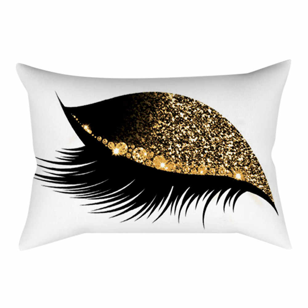 Eyelash Out Soft Velvet Cushion Cover 30x50cm Marble Pillow Cases Decoration 30cm x 50cm For Sofa Car Seat Cushion Cover