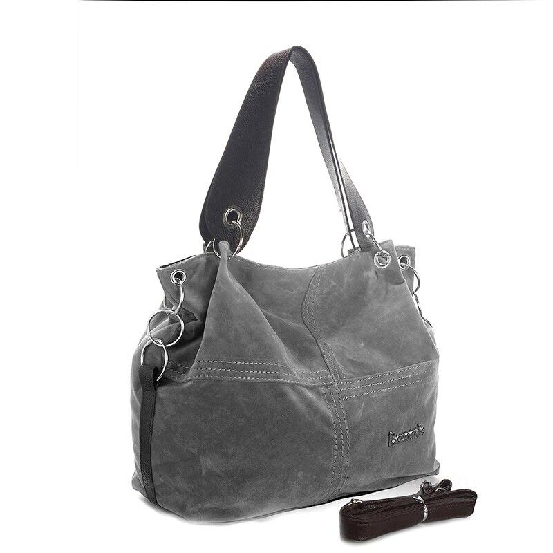 Daunavia фирменные сумки из натуральной кожи женские большие сумки Высокое качество Женские сумки через плечо, сумки с высокой ручкой, из мягкого вельвета винтажная Сумка-тоут - Цвет: Серый