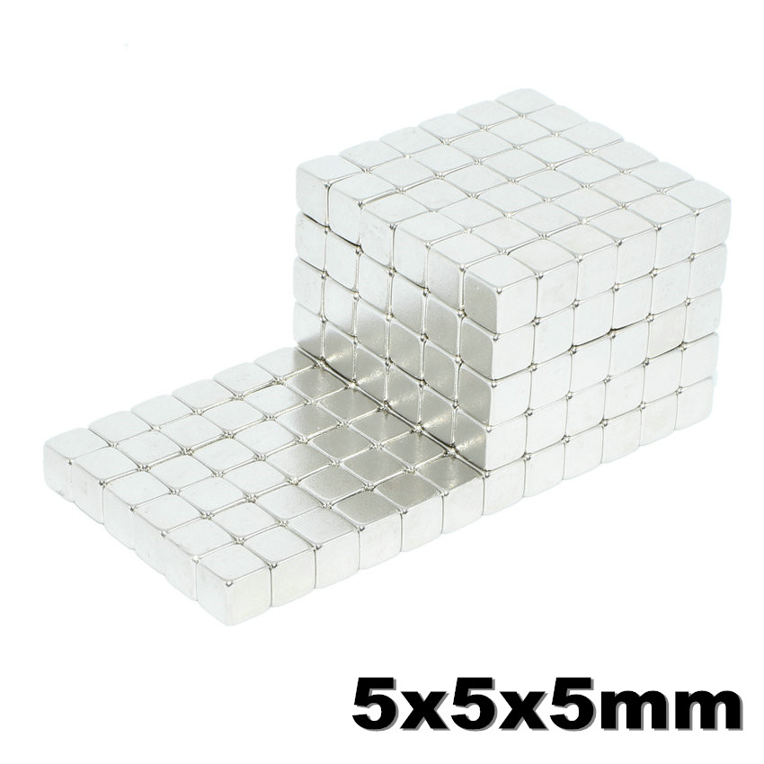 125pcs <font><b>5x5x5</b></font> Strong <font><b>Neodymium</b></font> <font><b>Magnet</b></font> N35 NdFeB Super Powerful Small Block Magnetic Buck cubes <font><b>Magnets</b></font> Build Toy 5mm x 5mm x 5mm image