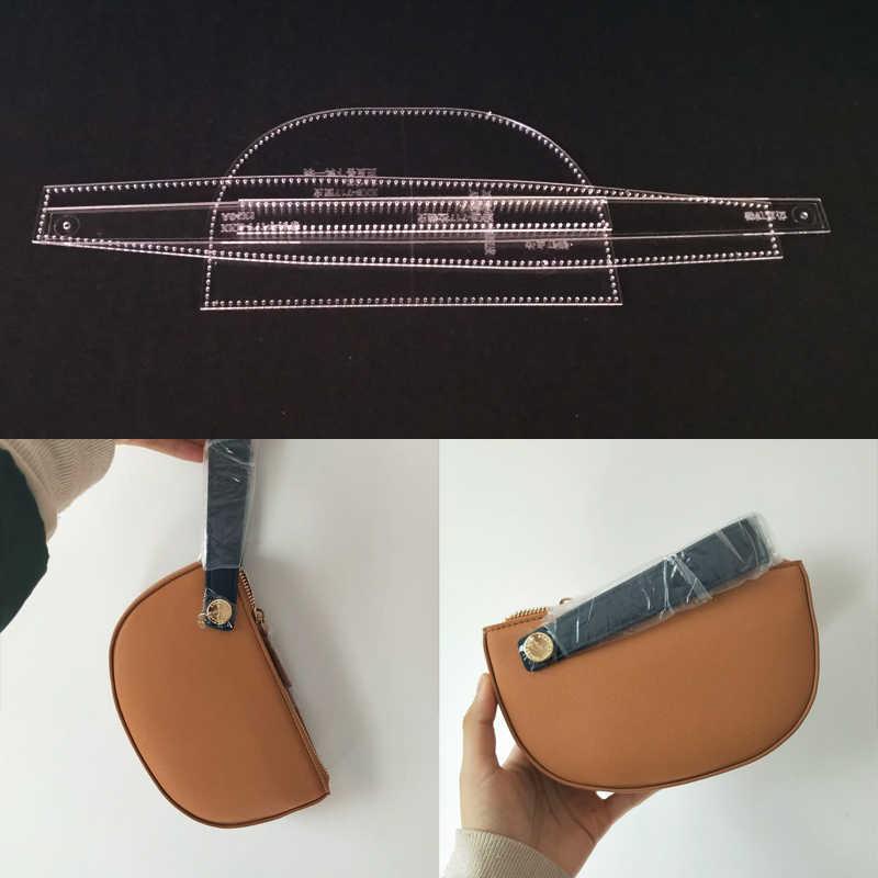 1 Набор DIY акриловый кожаный шаблон для дома ручная работа кожевенное ремесло