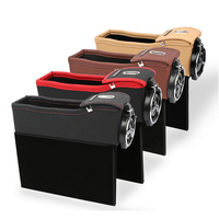 1pcs Black Seat Crevice Storage Box Car Organizer Seat Case Pocket Cup Holder Car Seat Side Slit for Wallet Phone With Coins Box