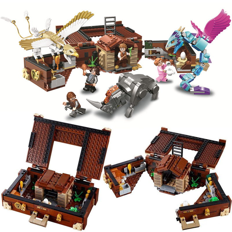 Fantastiska djur Grindelwald Newts fall av Magical Creatures Building Blocks Set Leksaker Kompatibel Legoingly Harri Potter 75952