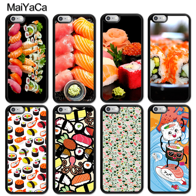 0967356398 MaiYaCa Funny Japanese Sushi food Style Soft Rubber Skin Phone Cases For  iPhone 6 6S 7 8 Plus X XR XS MAX 5 5S SE Back Cover