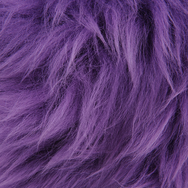 Online Shop Winter Fur Purple Red Black Color Warm Long Wool Plush