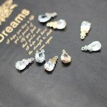Fashion oval pendant earrings bracelet material Trendy Rhinestone Metal Earrings For Women Diy Handmade Jewelry Accessories sweet letter rhinestone pendant bracelet for women
