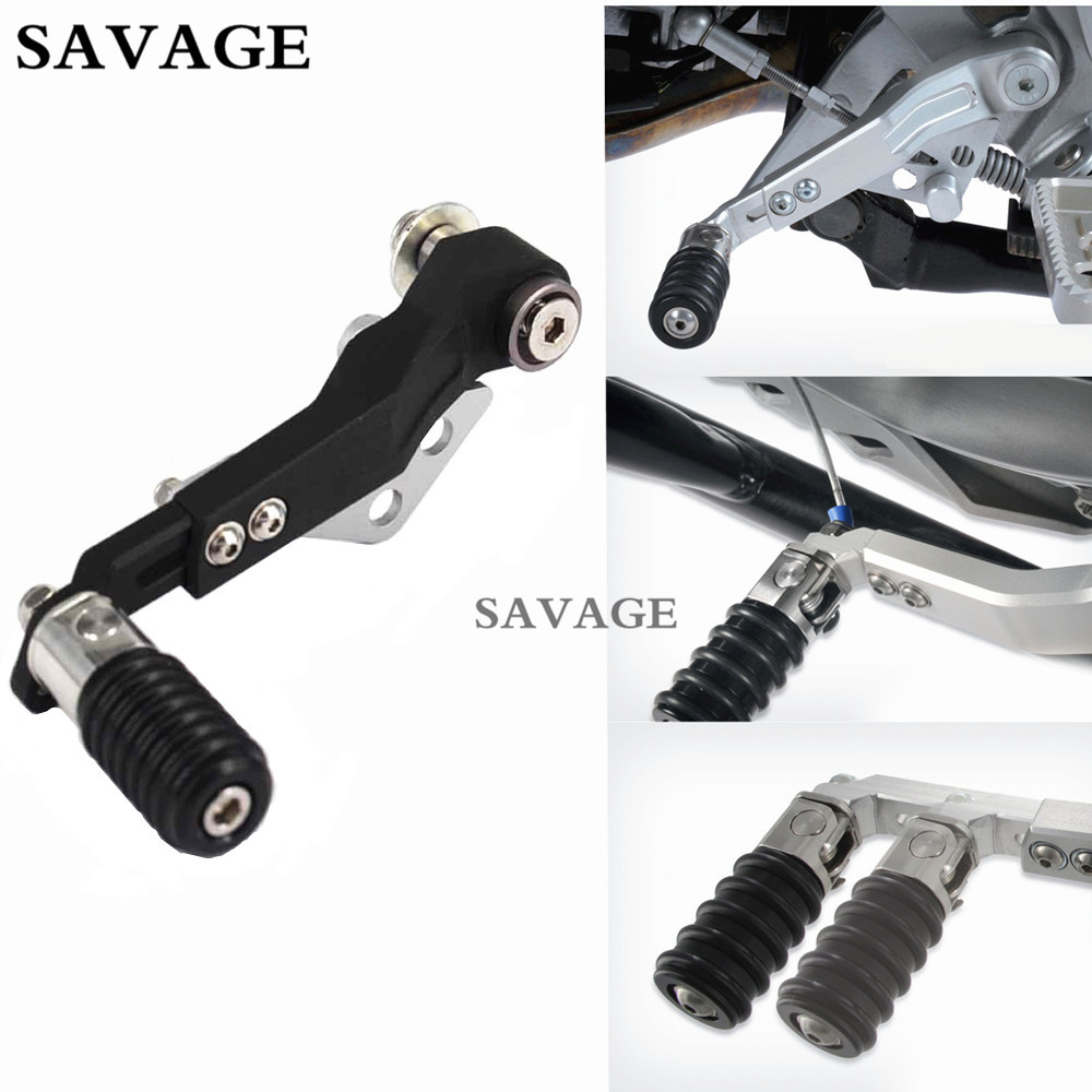1 Pcs Motorcycle CNC Adjustable Gear Shift Lever Pedals For BMW R1200GS LC 2013-2016 R1200GS ADV 2014-2016 Aluminium Black bjmoto motorcycle cnc adjustable folding gear shift lever shifter brake pedal for bmw r1200gs lc r1200gs adv 2014 2016