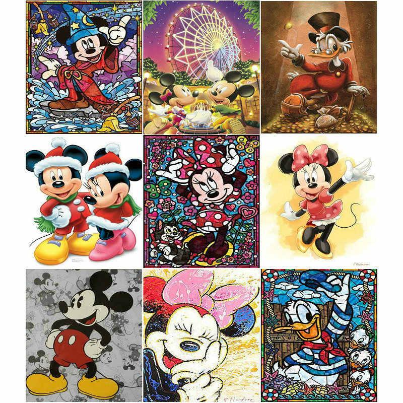 f554d46a47 Diy diamond painting cross stitch Mickey mouse Disney 5d crystal square diamond  mosaic art painting Diamond