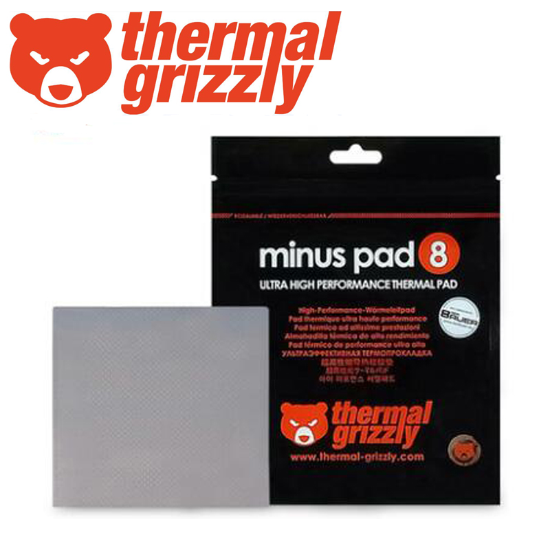 Thermal Grizzly Minus Pad 8  High Quality Thermal Pad GPU CPU Graphics Card Heatsink Cooling Conductive Silicone Pad  8.0W/mk