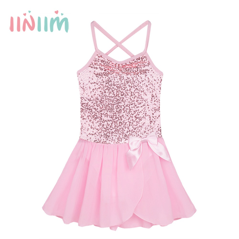 ④Iiniim verano leotardos vestido de fiesta Formal para niñas Dance ...