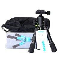 CamboFoto M225 CK30 Portable Mini Folding Ultra Aluminum Alloy Compact Tripod With Ball Head For Canon