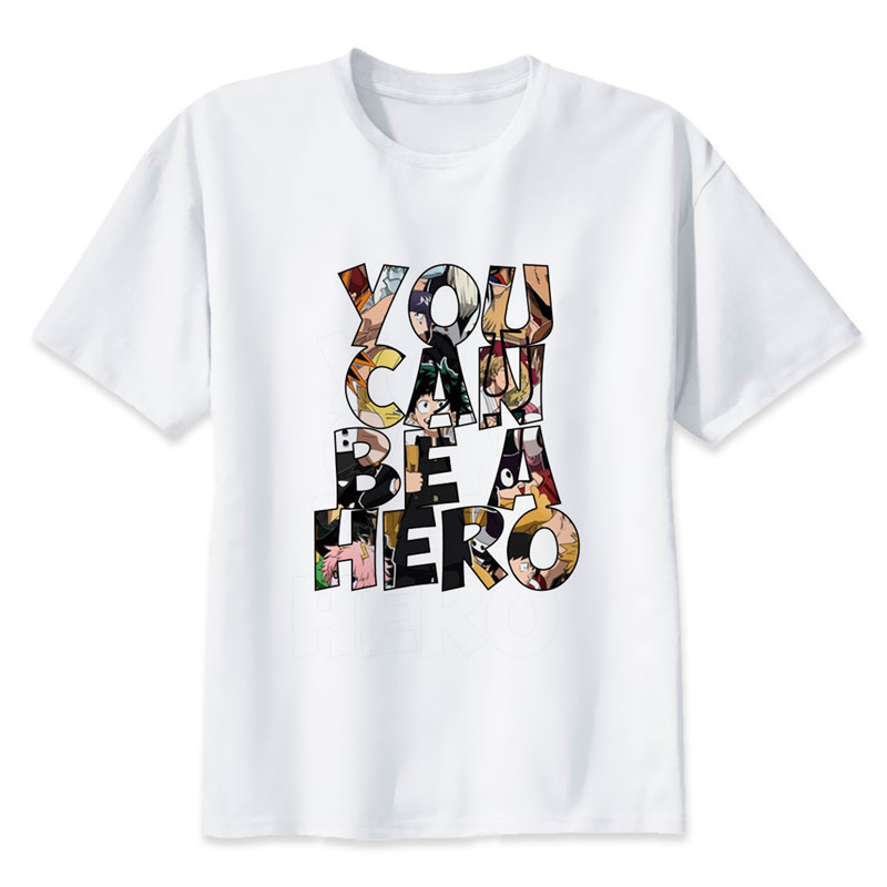 New Arrival My Hero Academia T Shirts Man Short Sleeve Clothing Boku No Hero Academia Funny Cartoon Print T-shirt For Man/woman 4