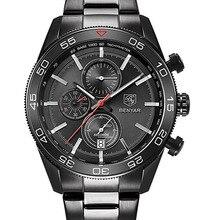 BENYAR Marca de lujo Impermeable de Los Hombres Relojes de Acero Lleno De Cuarzo Analógico Reloj Del Deporte Militar Del Ejército Hombres Reloj Masculino Del Relogio masculino