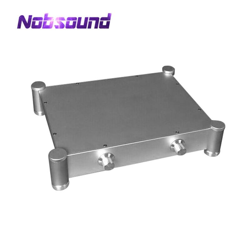 Silver Hi-End Aluminum Enclosure Pre-Amplifier Chassis DIY Case W430*H84*D430 mm breeze audio new listed hi end silver aluminum chassis for power amplifier bz3206a aluminum enclosure case