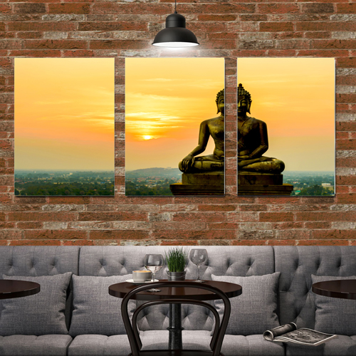 New 3 Pieces Abstract Canvas Printing Buddhism Buddha Canvas Picture Cuadros Paintings Budda Canvas Art For Bed Room No framed