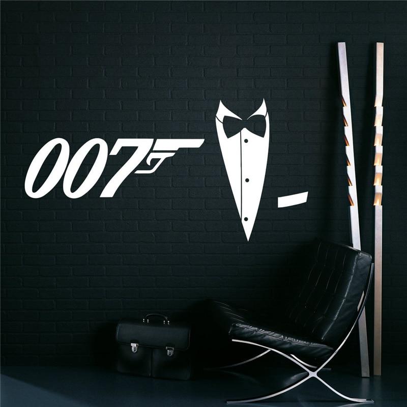 James Bond Wall Decal Wall Vinyl Sticker Secret Agent 007 Interior Home Art Wall Murals Bedroom Home Decor X144 ...
