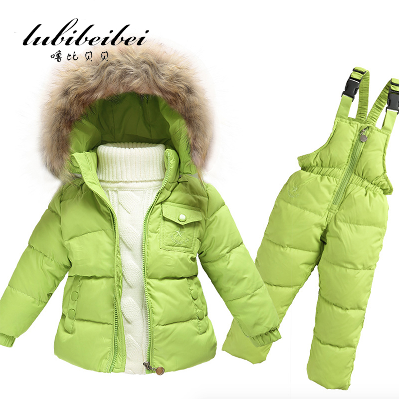 Подробнее о Hot Children Winter Clothing set Boys Ski Suit Girl Down Jacket Coat + Jumpsuit Set 1-6 Years Clothes For Baby Boy/Baby Girl children winter down jacket boys warm outerwear coats girls clothing set 1 6 years kids ski suit jumpsuit for boys baby overalls
