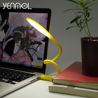 Yenmol Mini Flexible LED USB Lamp Table Lamps Gadgets Usb Computer Keyboard Eye Mobile Power Nightlight