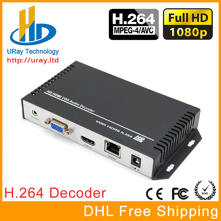 DHL Free Shipping H.264 /H264 HDMI & VGA HD Video Audio Decoder IP Streaming Decoder For Decoding HD Video Encoder Hardware ювелирное изделие 127140