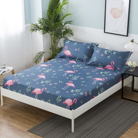 1pcs 100%Polyester Printed Solid Fitted Sheet Mattress Cover Four Corners With Elastic Band Bed Sheet 62